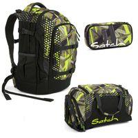 satch Sportbag Sporttasche Tasche Jungle Lazer Grün Braun Neu