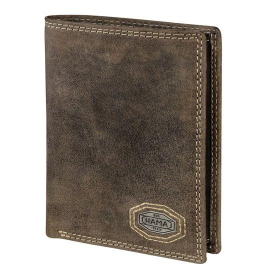Hama - Est. 1923 - Ledergeldbörse Fifteen Heritage - Hunter Brown / Braun