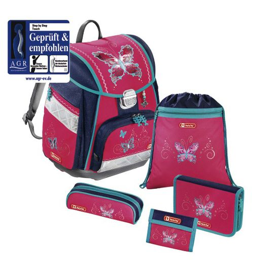 Step by Step Touch Butterfly Dancer Schulrucksack Set 5tlg.