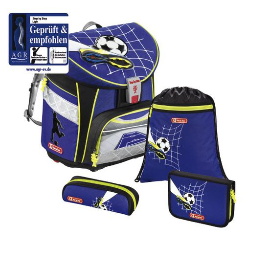 Step by Step Light Top Soccer Schulranzen Set 4tlg.