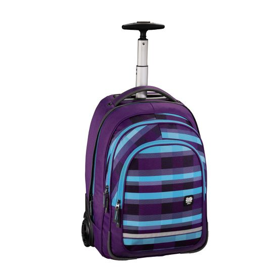 Hama All Out Trolley Bolton Summer Check Purple