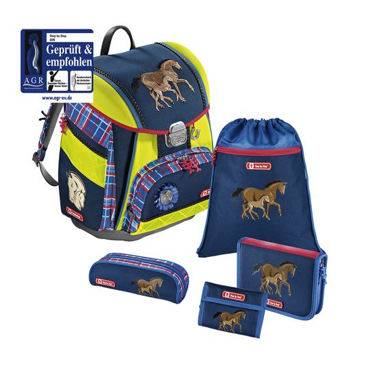 Step by Step Touch DIN Horse Family Schulranzen Set 5tlg.