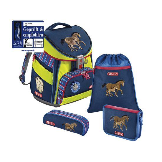 Step by Step Comfort DIN Horse Family Schulranzen Set 4tlg.