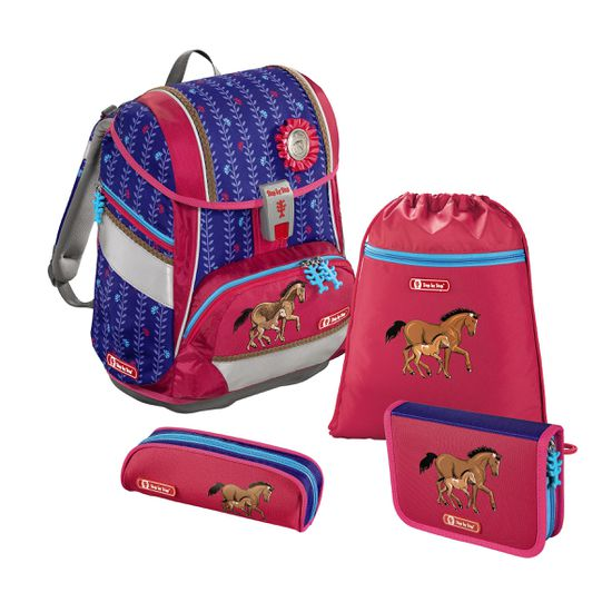Step by Step 2in1 Lucky Horses Schulranzen Set 4tlg.