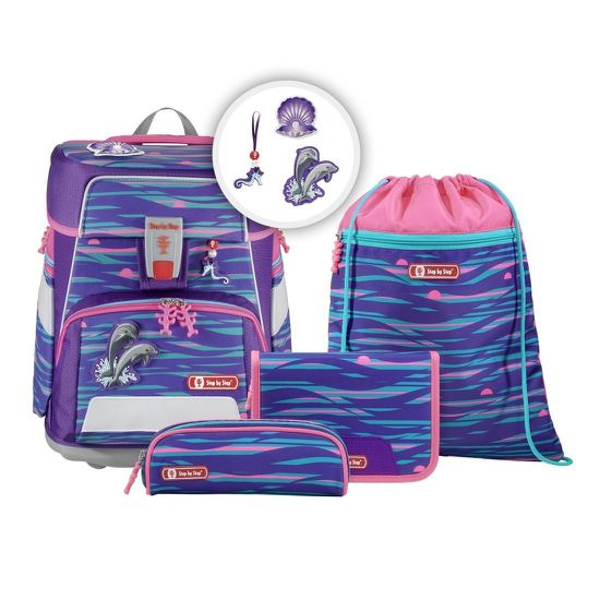 Step by Step Space Shiny Dolphins Schulranzen Set 5tlg.