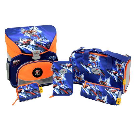 DerDieDas - Schulranzen Set 5 tlg. - Fliegengewicht XS - 800g - Superheld
