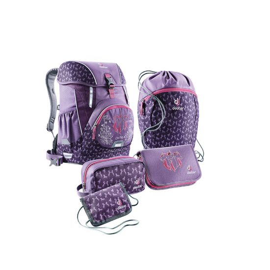 Deuter OneTwo Sneaker Bag Flieder Horse Schulranzen Set 5tlg