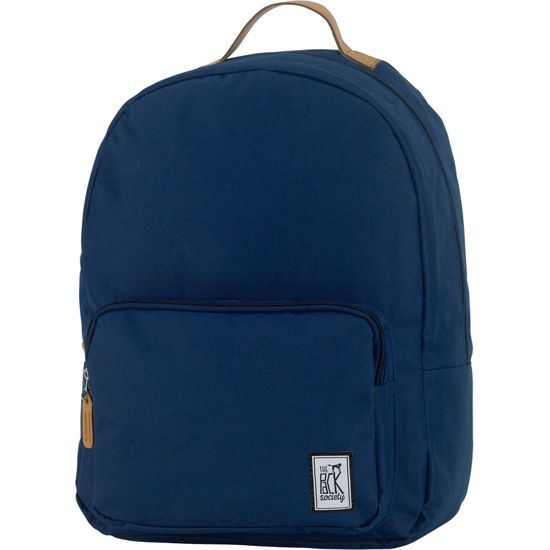The Pack Society Classic Backpack Solid Navy Rucksack
