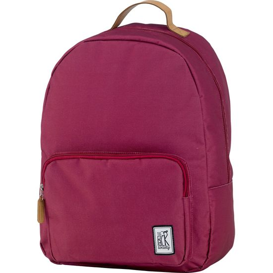 The Pack Society Classic Backpack Solid Burgundy Rucksack