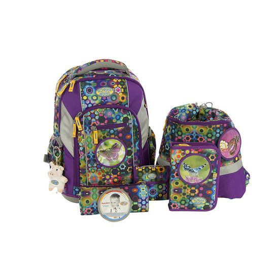 School Mood Loop Schmetterling Schulrucksack Set 7tlg.