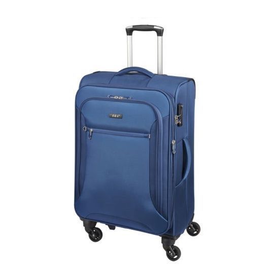 D & N Travel Line 6404 Blau 4-Rollen Trolley M 68cm