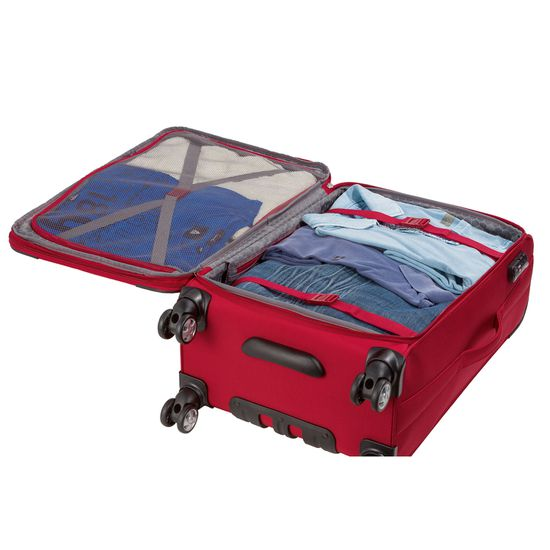 Hardware - Koffer O-ZONE - Trolley M - 65cm 2 Rollen - Black/ Red schwarz