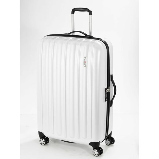 Hardware Profile Plus Piece Concept Pearl White 4-Rollen Trolley L 77cm