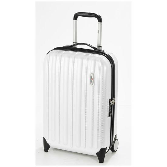 Hardware Koffer Profile Plus Handgepäck Trolley S Cabin Size 55cm 2 Rollen Pearl White weiß