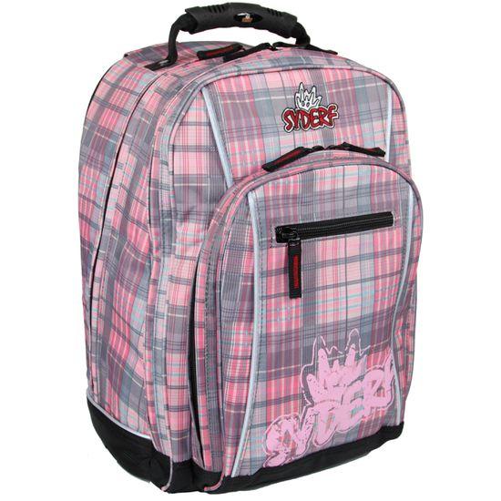 Syderf Groovy Pink Check Schulrucksack
