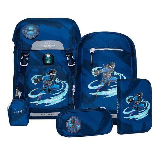 Beckmann Classic Ninja Master BlueSchulranzen Set 6tlg. Exklusiv Kollektion