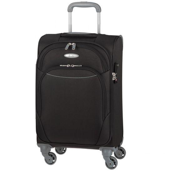 D & N - Koffer L 78 cm 4 Rollen - Travel Line 7404 - Schwarz