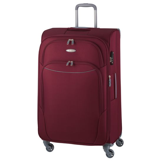 D & N - Koffer L 78 cm 4 Rollen - Travel Line 7404 - Bordeaux