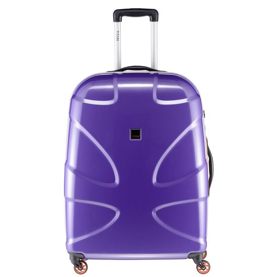 TITAN - Koffer / Trolley L - 4 Rollen X2 Fun  360° - Lilac/ Orange
