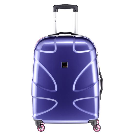 TITAN - Koffer / Trolley S - 4 Rollen X2 Fun  360° - Inkblue/ Pink