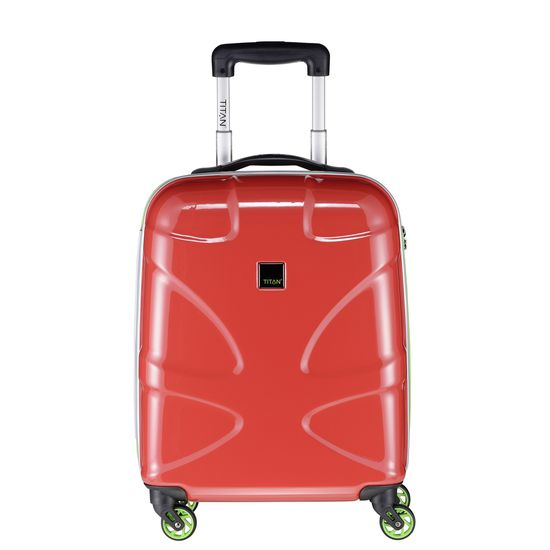 TITAN - Koffer / Trolley S - 4 Rollen X2 Fun  360° - Red/ Lemon