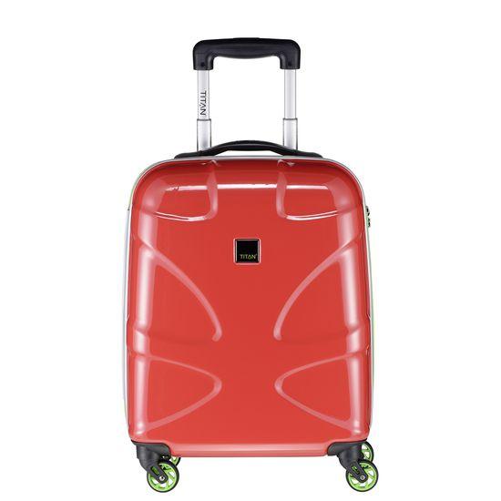 TITAN - Koffer / Trolley L - 4 Rollen X2 Fun  360° - Red/Lemon