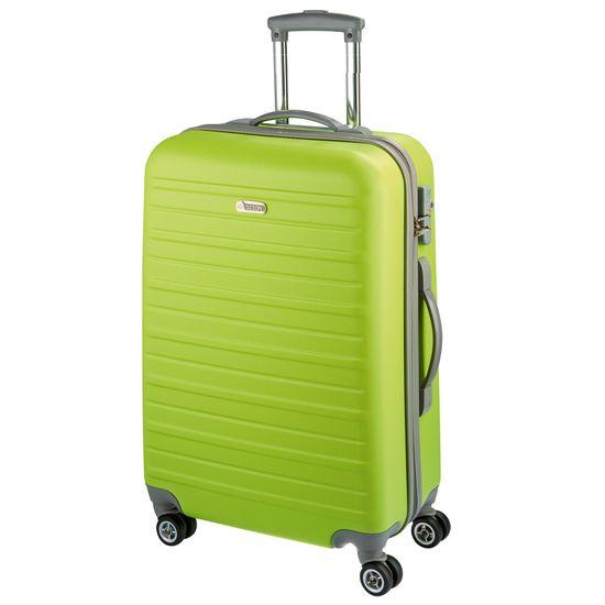 D & N - Koffer M 66 cm 4 Rollen - Travel Line 9400 - Limette