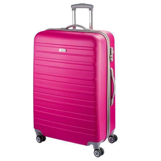 D & N - Koffer M 68 cm 4 Rollen - Travel Line 9400 - Pink
