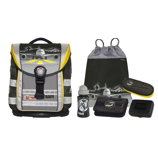 McNeill ERGO Light Compact Airport Schulranzen Set 6tlg.