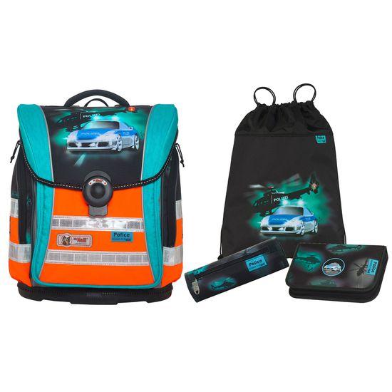 McNeill Schulranzen Set - ERGO Light Compact flex DIN - Police