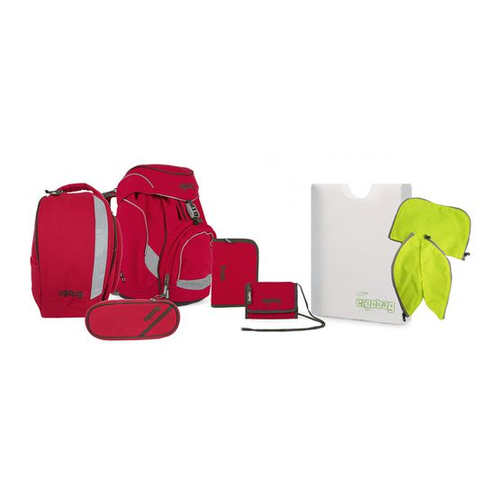 Ergobag Pack Ay CaramBär Special Edition Pure Canvas Schulrucksack Set 7tlg.
