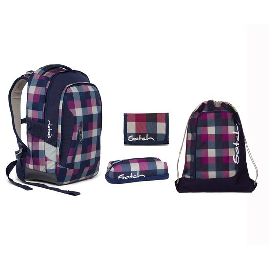 Satch Sleek Berry Carry Schulrucksack Set 4tlg.