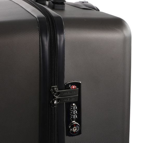 Wagner Luggage Case-Lecon Gunmetal silber Koffer M 66cm