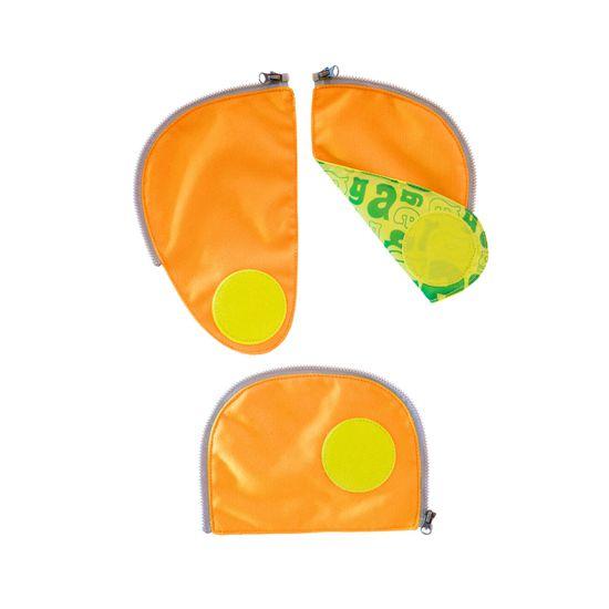 Ergobag Pack Sicherheitsset Orange Fluoreszierende Zip-Flächen 3tlg.