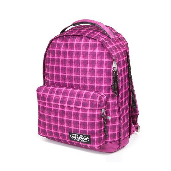 Eastpak Chizzo Laptop/ Notebook Rucksack Charged Check Pink