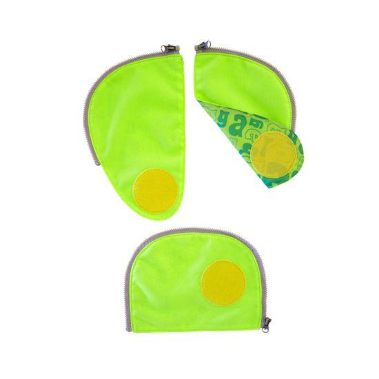 Ergobag Pack Sicherheitsset Grün Fluoreszierende Zip-Flächen 3tlg.
