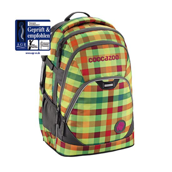 Coocazoo EvverClevver 2 Hip To Be Square Green Schulrucksack