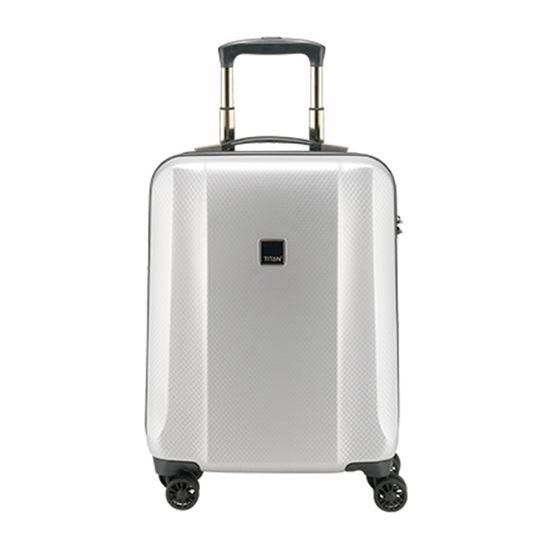 TITAN - Koffer / Trolley S - 4 Rollen Xenon DeLuxe  360° - Silver