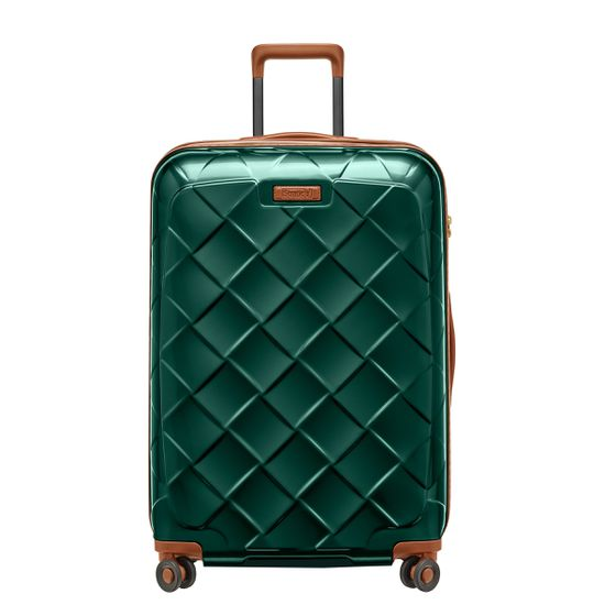 Stratic Leather & More Smaragd 4-Rollen Trolley L