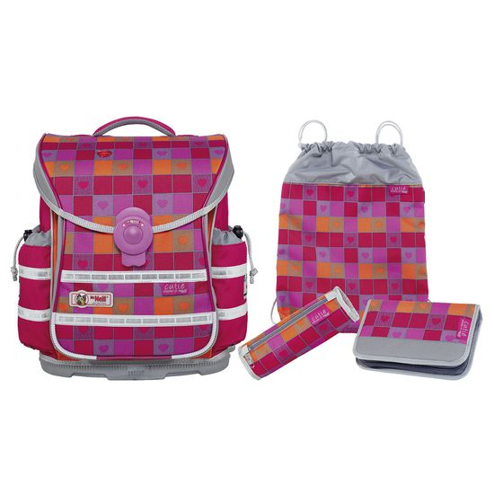McNeill ERGO Light Plus Cutie II Schulranzen Set 4tlg.