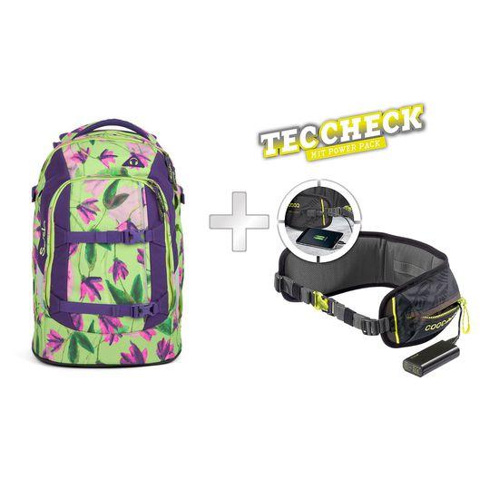 Satch Pack Ivy Blossom Schulrucksack mit TecCheck-Hüftgurt