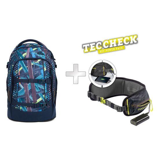 Satch Pack Splashy Lazer Schulrucksack mit TecCheck-Hüftgurt