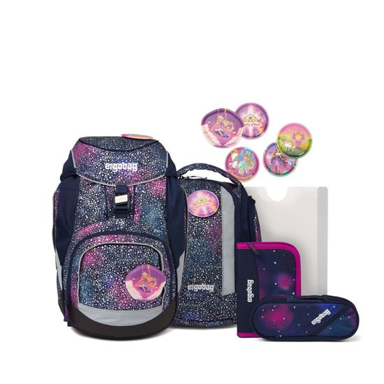 Ergobag Pack Bärlaxy SUPER REFLEX GLOW EDITION Schulrucksack Set 6tlg.