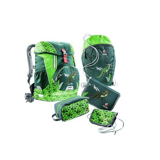 Deuter OneTwo Sneaker Bag Forest Dino Schulranzen Set 5tlg.
