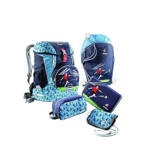 Deuter OneTwo Sneaker Bag Navy Soccer Schulranzen Set 5tlg.
