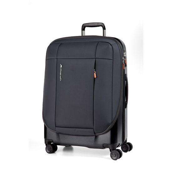 March Phaeton Black 4 Doppel-Rollen Trolley L 76cm