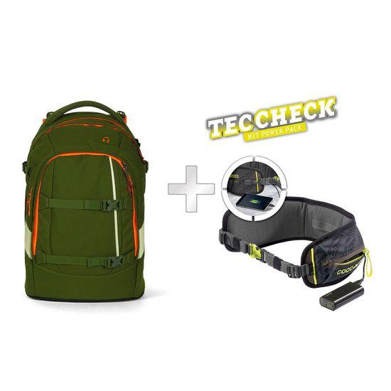 Satch Pack Green Phantom Schulrucksack mit TecCheck-Hüftgurt