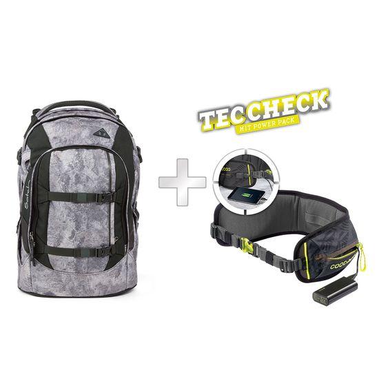 Satch Pack Rock Block Schulrucksack mit TecCheck-Hüftgurt