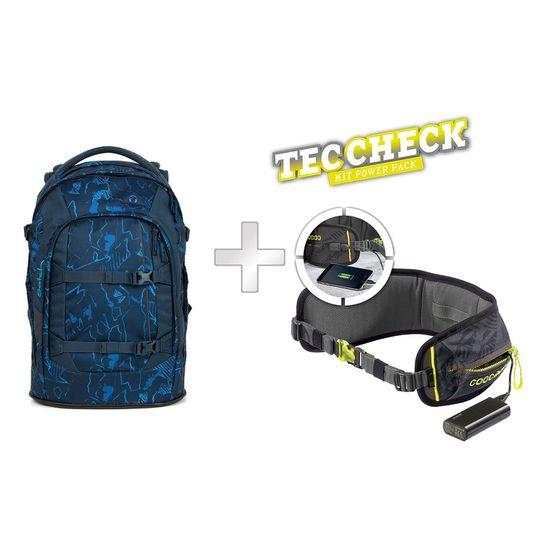 Satch Pack Blue Compass Schulrucksack mit TecCheck-Hüftgurt