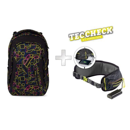 satch sleek Schulrucksack Disco Frisco